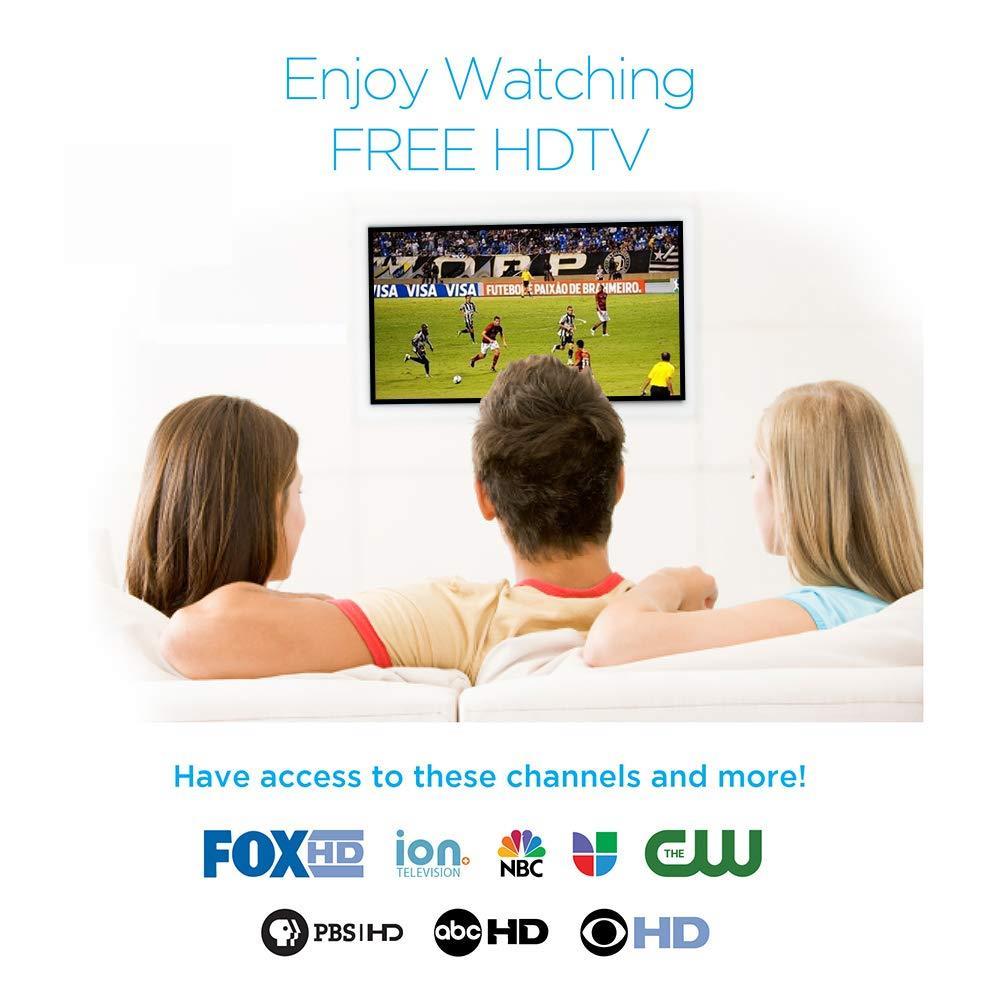 Leadzm 1080P TV Antenna Digital Amplified HDTV Indoor Outdoor 120Miles 8dBi