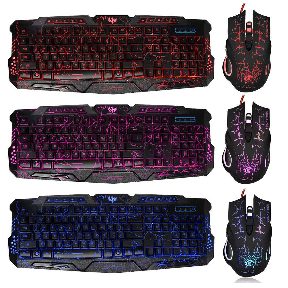 Keyboard Mouse Set Adapter for PS4 PS3 Xbox One and Xbox 360 Gaming Rainbow LED